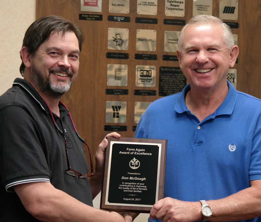 Don McGough Receives Award