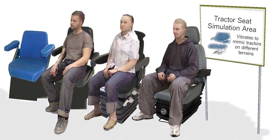 Tractor seat simulation